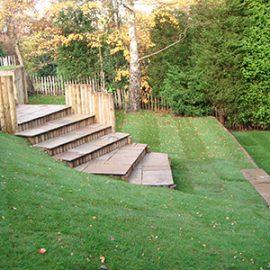 Sloping Rear Garden Landscaping in Brattle Wood Sevenoaks Kent